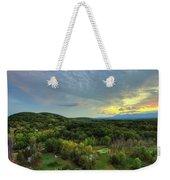 Sunset Over Blue Hill Weekender Tote Bag