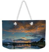 Sunset Over Boat Ramp At Anacortes Marina Weekender Tote Bag