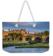 Sunset Over Carcassonne Weekender Tote Bag