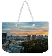 Sunset Over Clarke Quay And Fort Canning Park Weekender Tote Bag