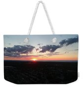 Sunset Over Cleveland Weekender Tote Bag