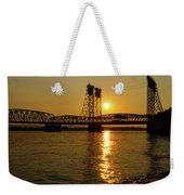 Sunset Over Columbia Crossing I-5 Bridge Weekender Tote Bag