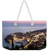Sunset Over Dubrovnik In Croatia Weekender Tote Bag