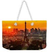 Sunset Over Eiffel Tower Weekender Tote Bag