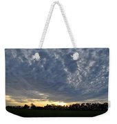 Sunset Over Farm And Trees - Distant View Weekender Tote Bag