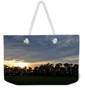 Sunset Over Farm And Trees Weekender Tote Bag