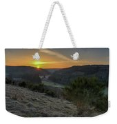 Sunset Over Forest Weekender Tote Bag