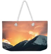 Sunset Over Grisedale Pike And The Coledale Horsehoe, Lake Distr Weekender Tote Bag