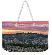 Sunset Over Happy Valley Residential Neighborhood Weekender Tote Bag