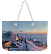 sunset over Igloos - Greenland Weekender Tote Bag