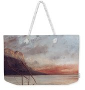 Sunset Over Lake Leman Weekender Tote Bag by Gustave Courbet