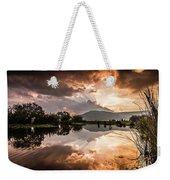 Sunset Over Lake Weekender Tote Bag