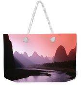 Sunset Over Li River Weekender Tote Bag