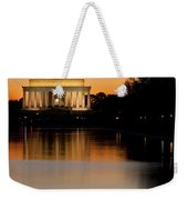 Sunset Over Lincoln Memorial Weekender Tote Bag