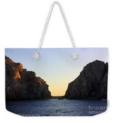 Sunset Over Lovers Beach Weekender Tote Bag