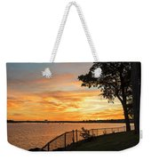 Sunset Over Lynch Park Beverly Ma Water Tower Weekender Tote Bag
