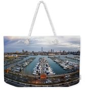 Sunset Over Marina Weekender Tote Bag