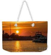 Sunset Over Marina Weekender Tote Bag