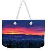 Sunset Over Marquam Hill Weekender Tote Bag