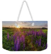 Sunset Over Meadow Of Lupine Weekender Tote Bag