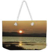 Sunset Over Mountains And Water Weekender Tote Bag