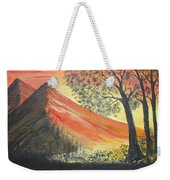 Sunset Over Mountains Weekender Tote Bag