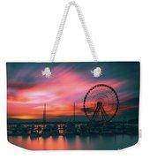 Sunset Over National Harbor Ferris Wheel Weekender Tote Bag