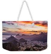 Sunset Over Rio De Janeiro  Weekender Tote Bag