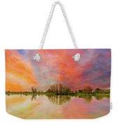 Sunset Over Sauvie Island Weekender Tote Bag