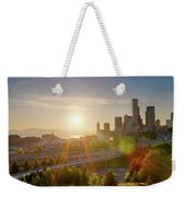 Sunset Over Seattle Downtown Skyline Weekender Tote Bag