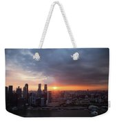 Sunset Over Singapore Weekender Tote Bag
