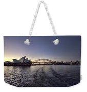 Sunset Over Sydney Harbor Bridge And Sydney Opera House Weekender Tote Bag