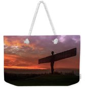 Sunset Over The Angel.  Weekender Tote Bag