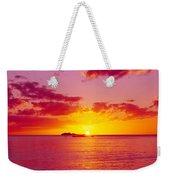 Sunset Over The, Atlantic Ocean, Cat Weekender Tote Bag