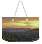 Sunset Over The Bluestone Gorge - Pipestem State Park Weekender Tote Bag