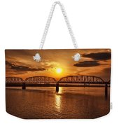 Sunset Over The Bridge Weekender Tote Bag