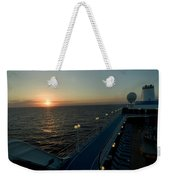Sunset Over The Caribbean Sea As Seen Weekender Tote Bag