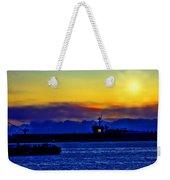 Sunset Over The Carl Vinson Weekender Tote Bag