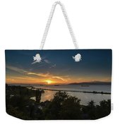Sunset Over The Columbia River Weekender Tote Bag