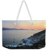 Sunset Over The Fishing Cove Of Klima On The Cycladic Island Of Milos Weekender Tote Bag