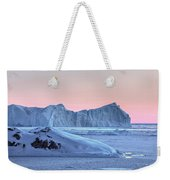 sunset over the Icefjord - Greenland Weekender Tote Bag
