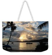 Sunset Over The Inifinity Pool At Frenchman's Cove In St. Thomas Weekender Tote Bag