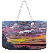 Sunset Over The Mississippi Weekender Tote Bag