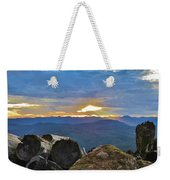 Sunset Over The Mountain Range Weekender Tote Bag