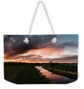 Sunset Over The River Wyre Weekender Tote Bag