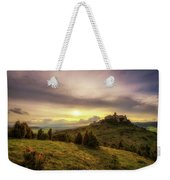 Sunset Over The Ruins Of Spis Castle In Slovakia Weekender Tote Bag