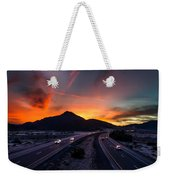 Sunset Over The Soda Mountains Weekender Tote Bag