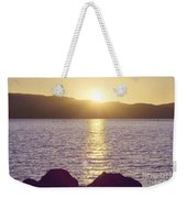 Sunset Over The Straits Weekender Tote Bag by Cindy Garber Iverson