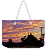 Sunset Over The Wheat Fields Weekender Tote Bag