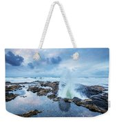 Sunset Over Thor's Well Weekender Tote Bag